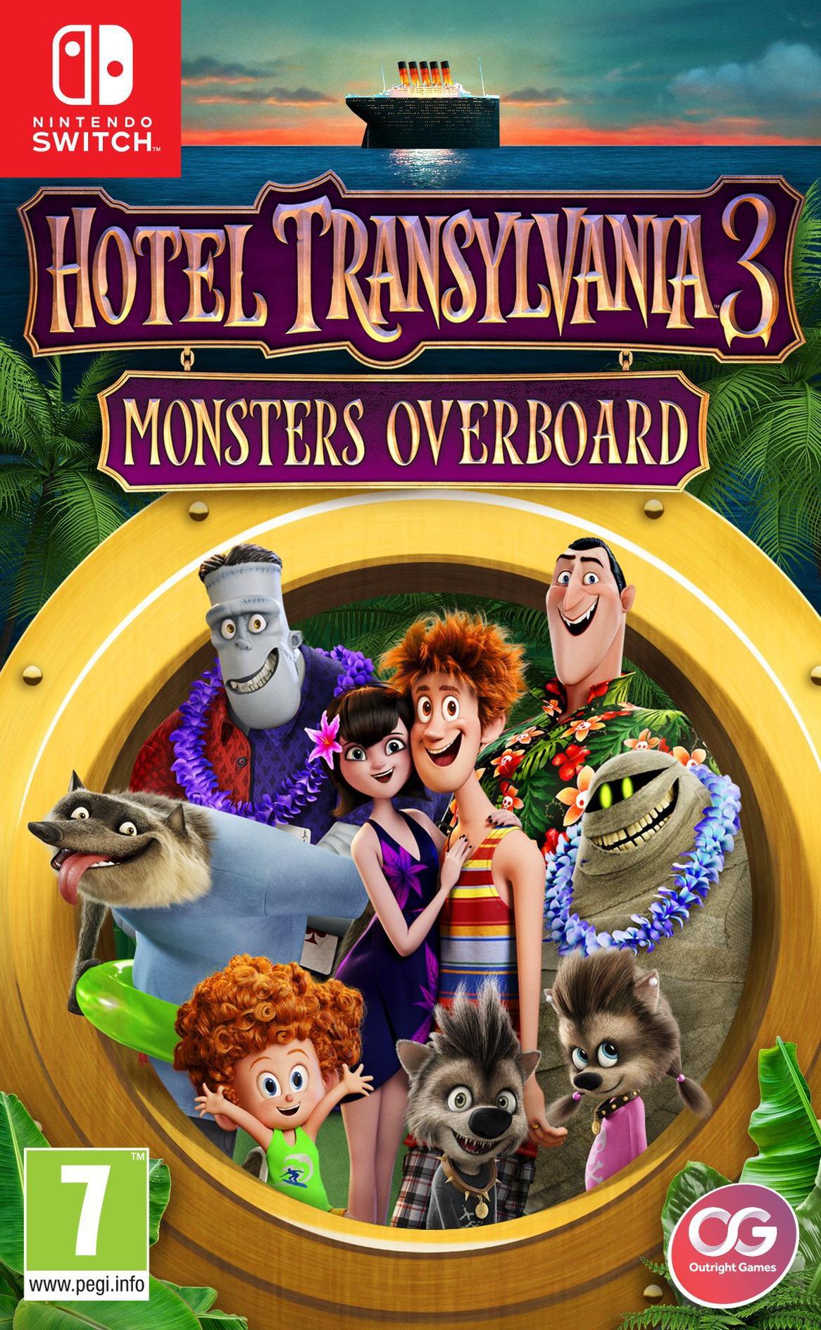 Hotel Transylvania 3 - Monsters Overboard Switch coverHQ (AJ7TA)
