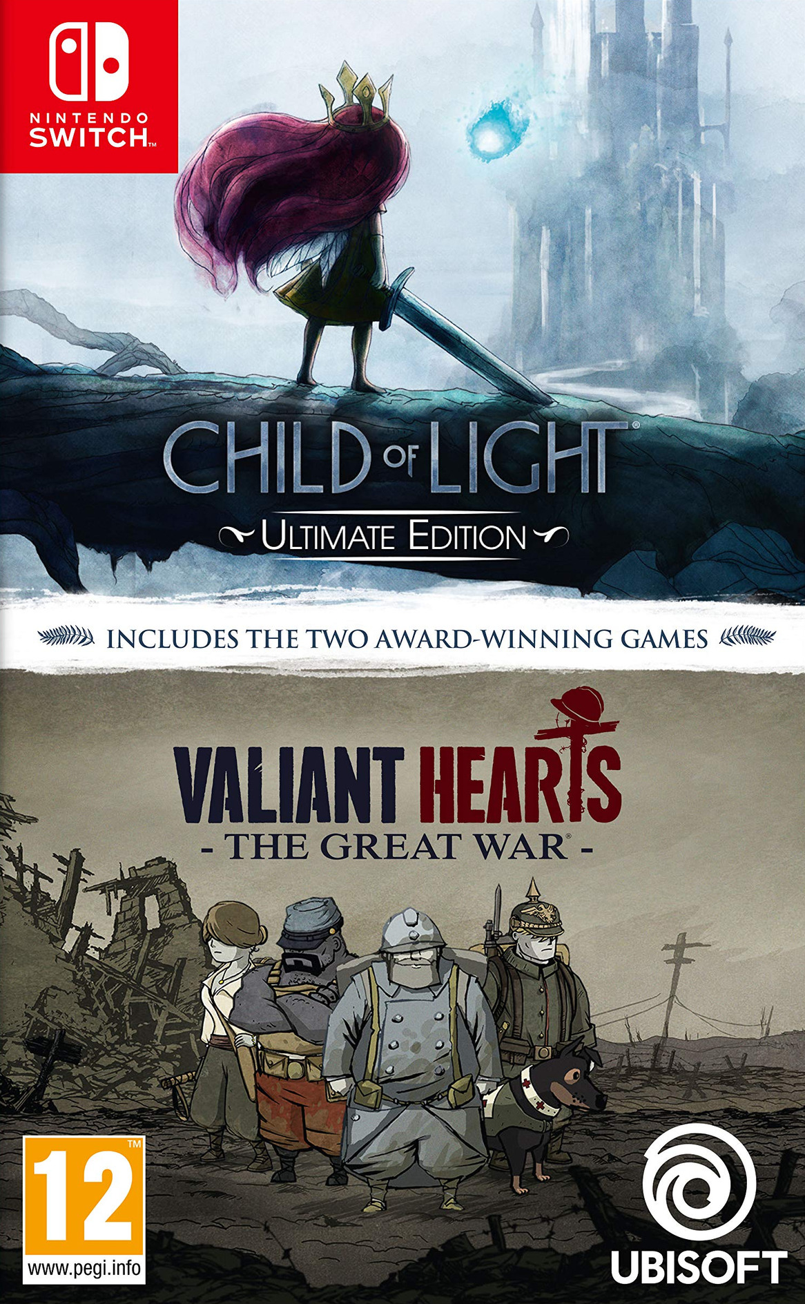 Child of Light - Ultimate Edition + Valiant Hearts Switch coverHQ (ASBKA)