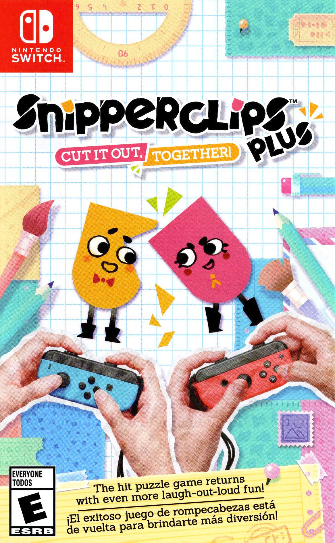 Snipperclips Plus: Cut It Out, Together! Switch coverHQ (AEXYA)