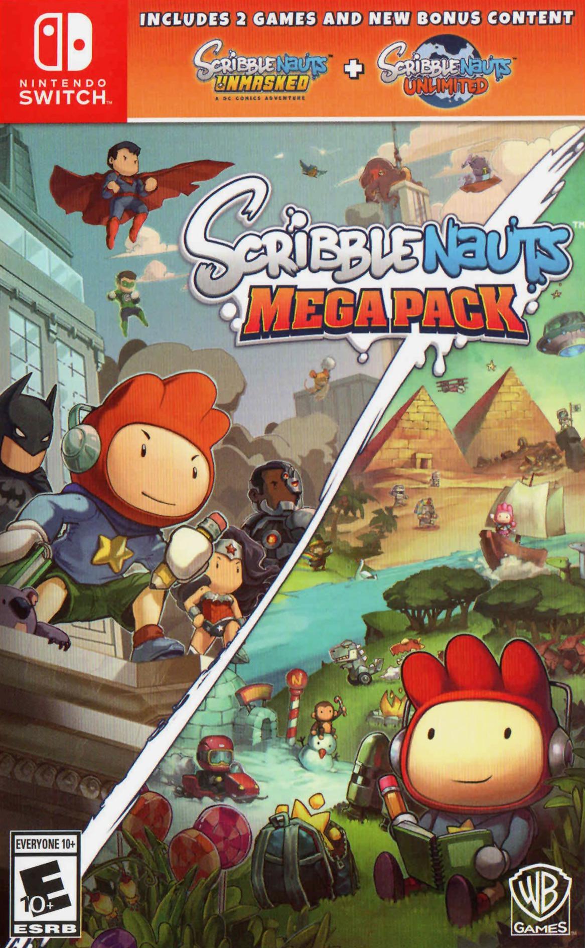 Scribblenauts Mega Pack Switch coverHQ (AQBRA)