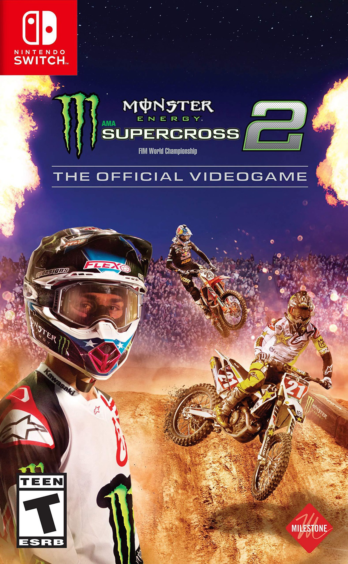 Monster Energy Supercross - The Official Videogame 2 Switch coverHQ (AQZ7A)