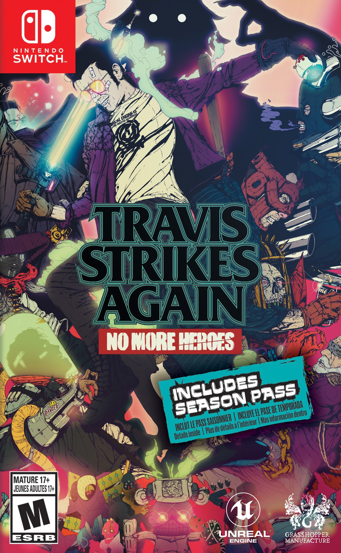 Travis Strikes Again - No More Heroes Switch coverHQ (AR9RA)