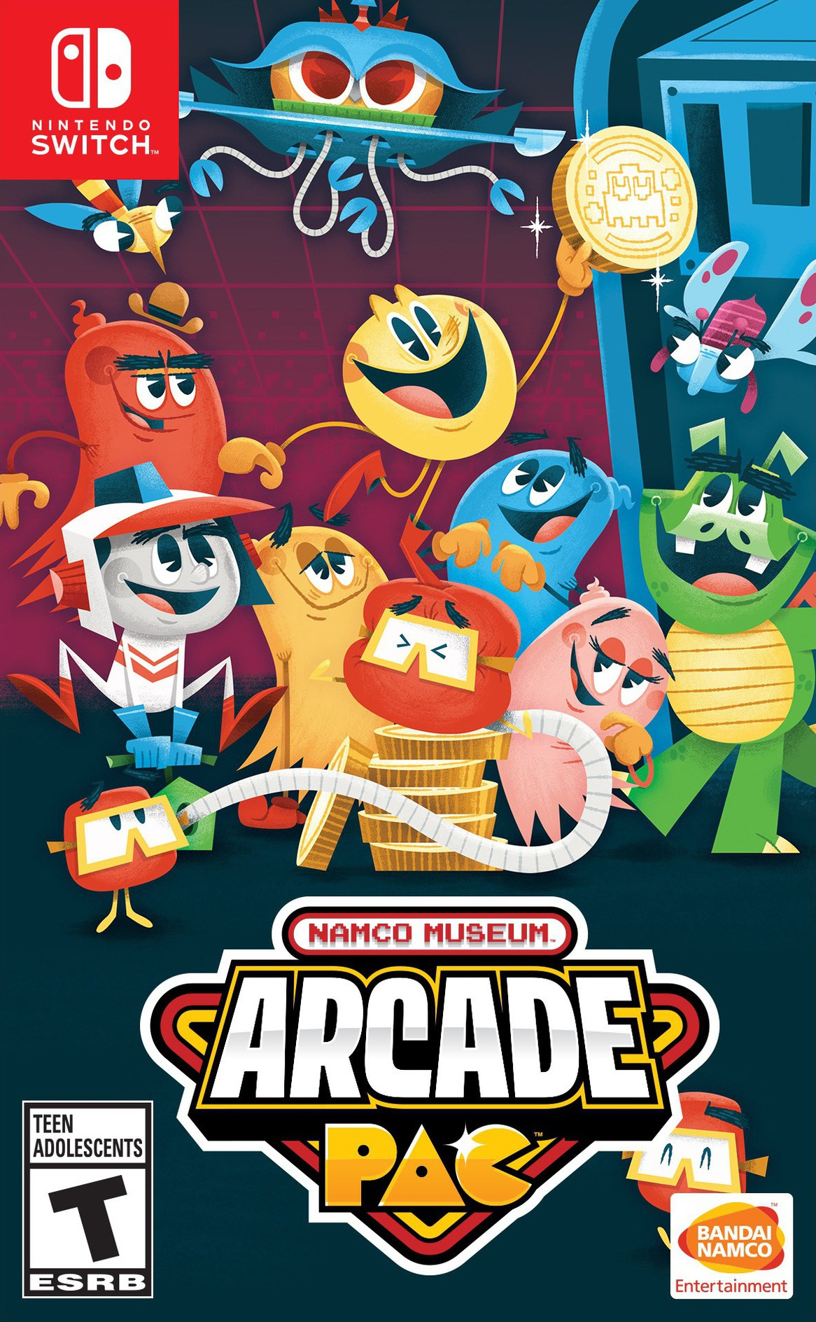 Namco Museum Arcade Pac Switch coverHQB (AP3MA)