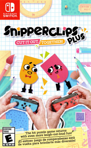 Snipperclips Plus: Cut It Out, Together! Switch coverM (AEXYA)
