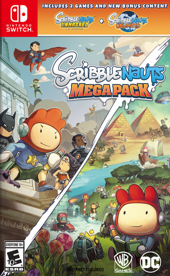 Scribblenauts Mega Pack Switch coverM (AQBRA)
