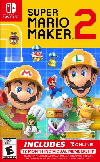 Super Mario Maker 2 Switch coverMB (BAAQA)
