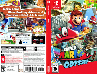 Super Mario Odyssey Switch cover (AAACA)