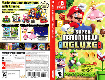 New Super Mario Bros. U Deluxe Switch cover (ADALA)
