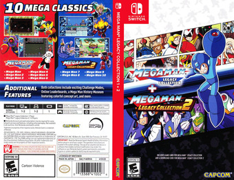 Mega Man Legacy Collection Switch cover (AKRVA)
