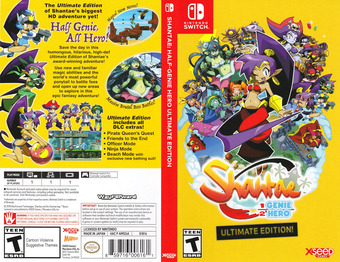 Shantae: Half-Genie Hero Ultimate Edition Switch cover (AMSGA)