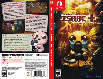 The Binding of Isaac: Afterbirth+ Switch cover (BAAZA)