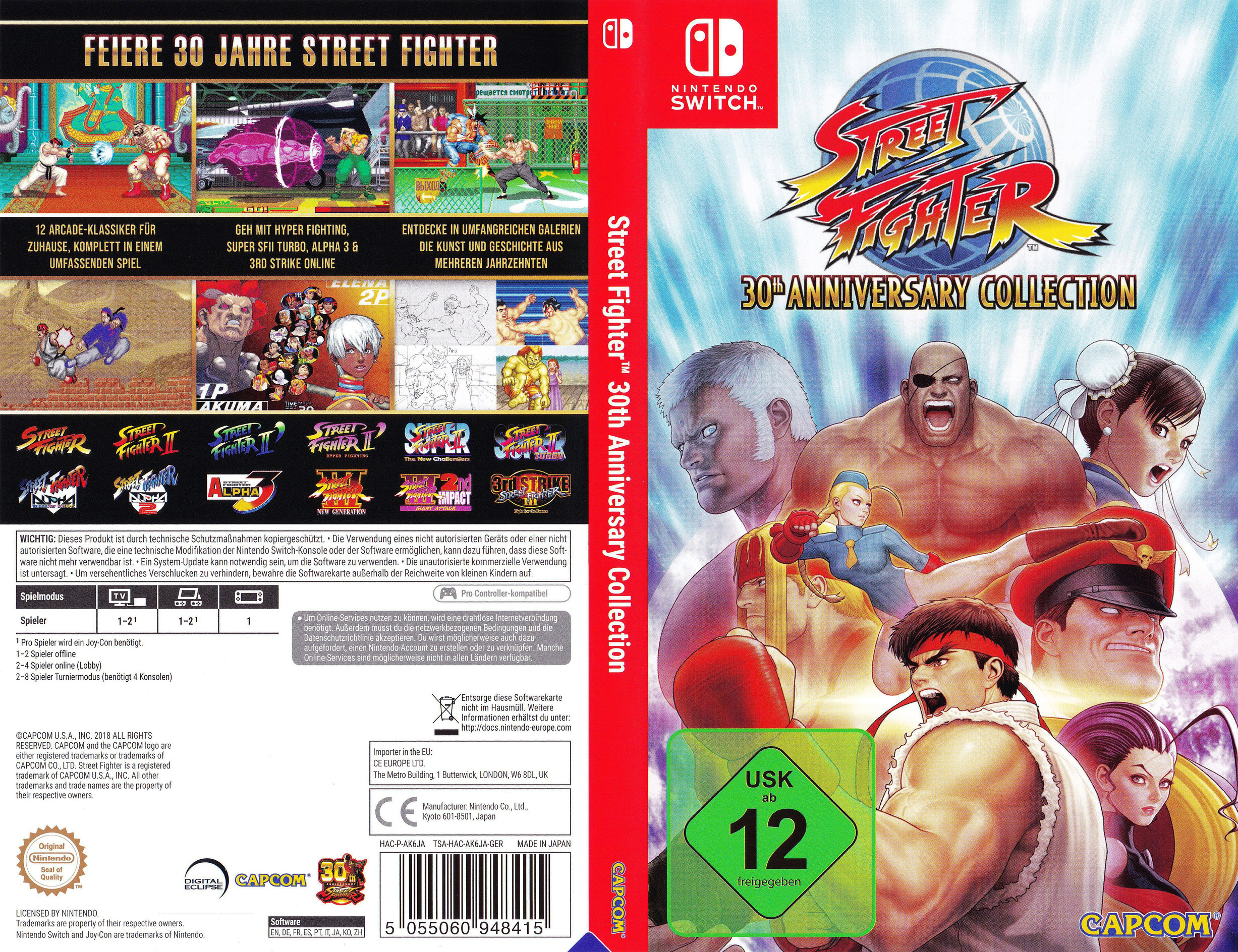 Street Fighter™ 30th Anniversary Collection Switch coverfullHQ (AK6JA)