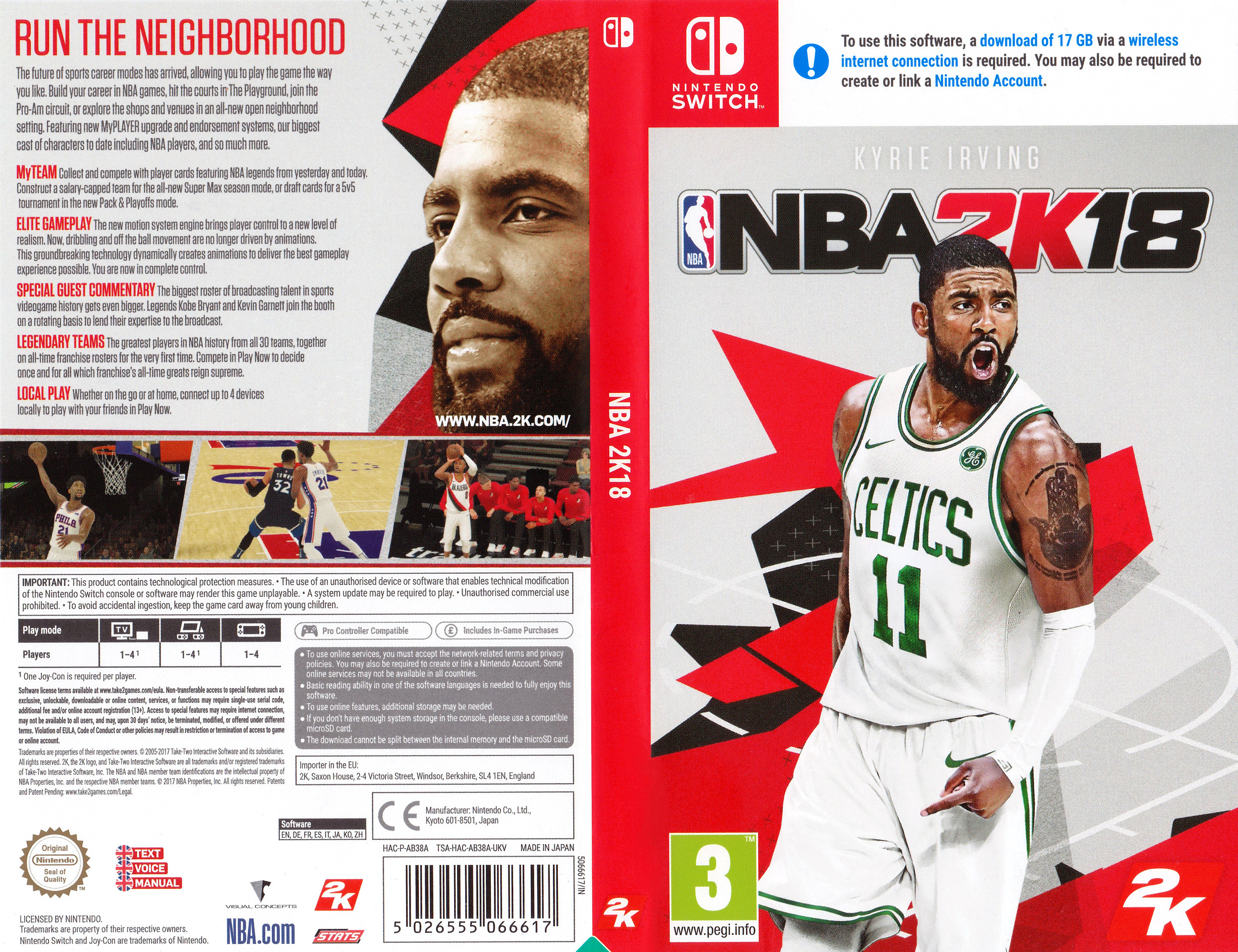 NBA 2K18 Switch coverfullHQ (AB38A)