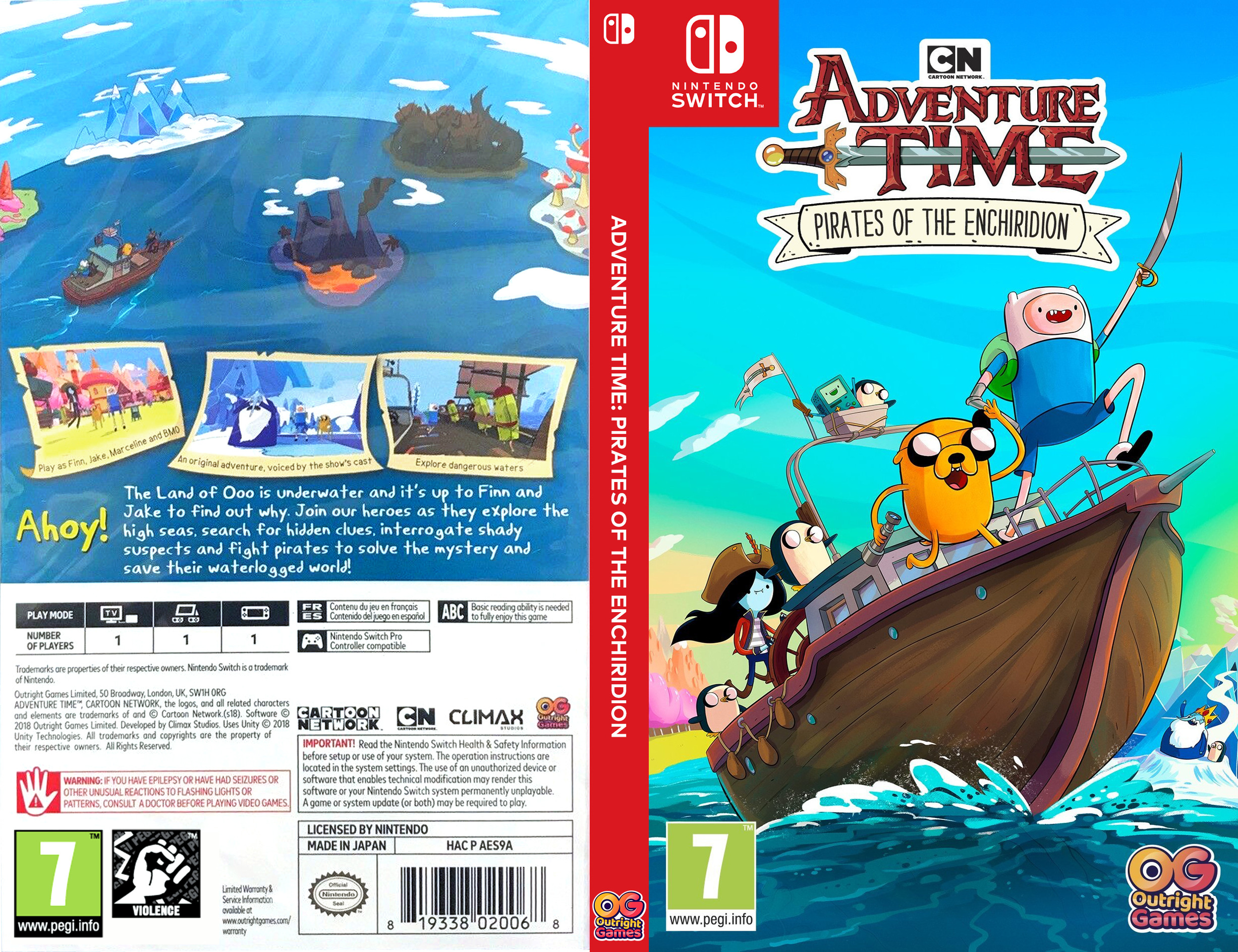 Adventure Time - Pirates of the Enchiridion Switch coverfullHQ (AES9A)