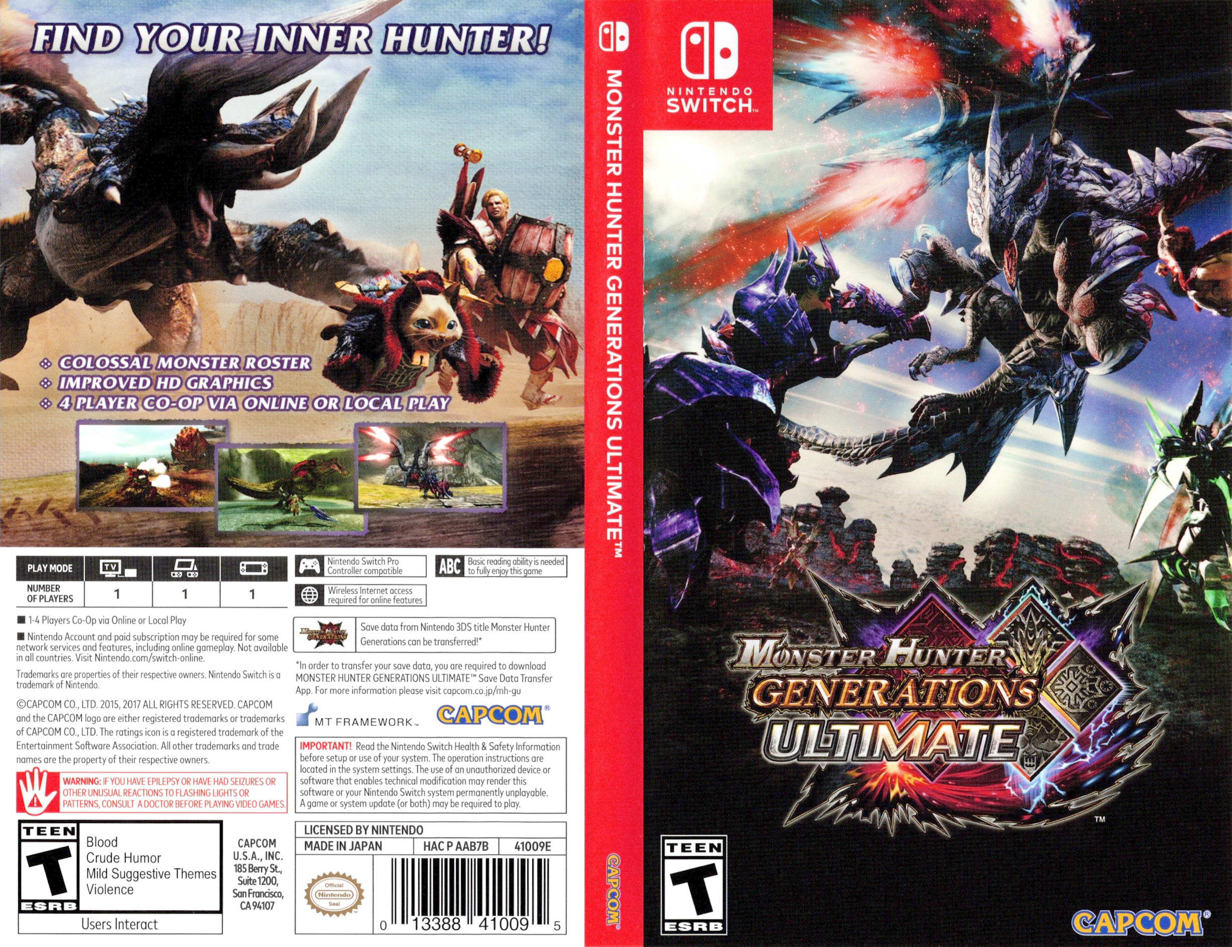 Monster Hunter - Generations - Ultimate Switch coverfullHQ (AAB7B)