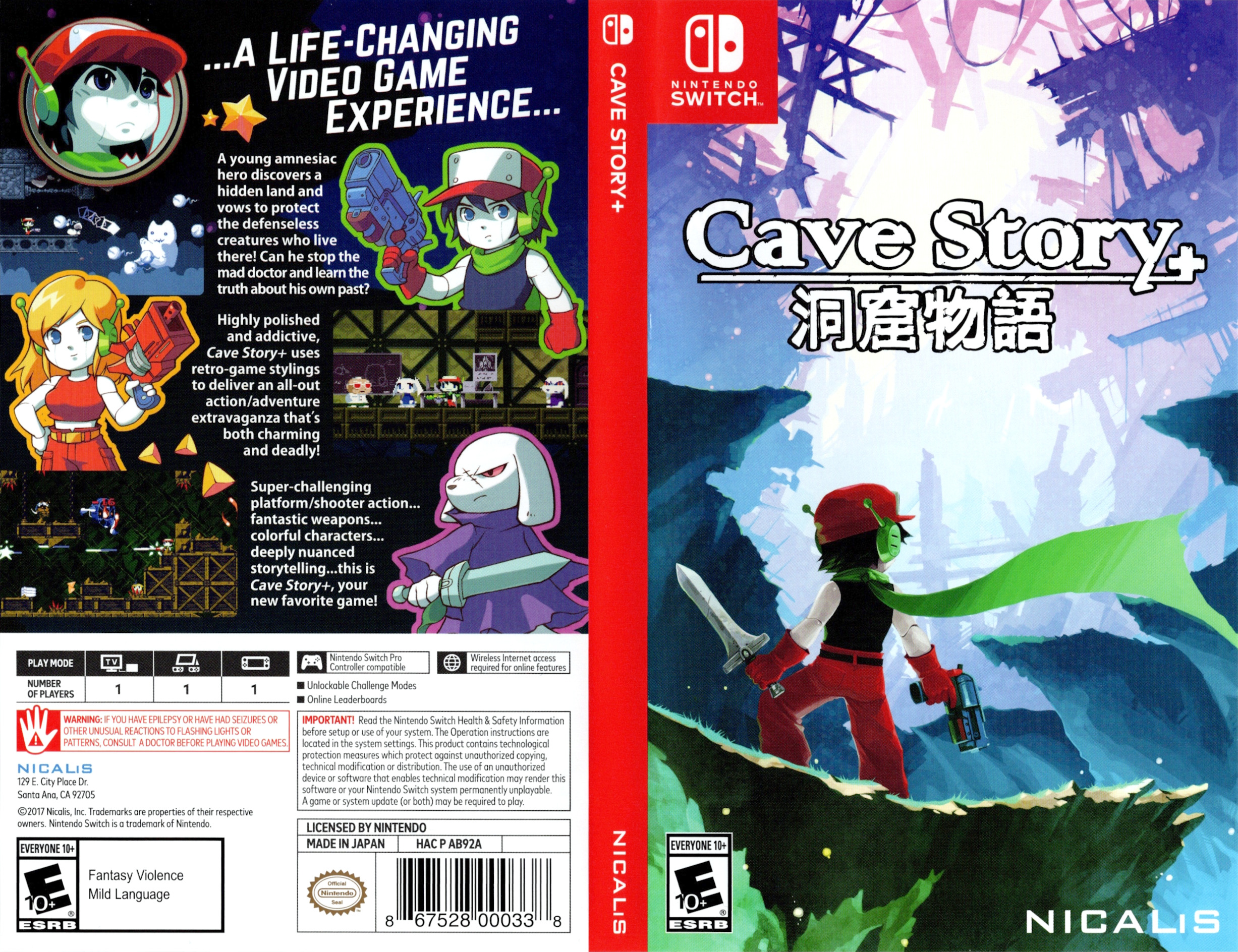 Cave Story+ Switch coverfullHQ (AB92A)