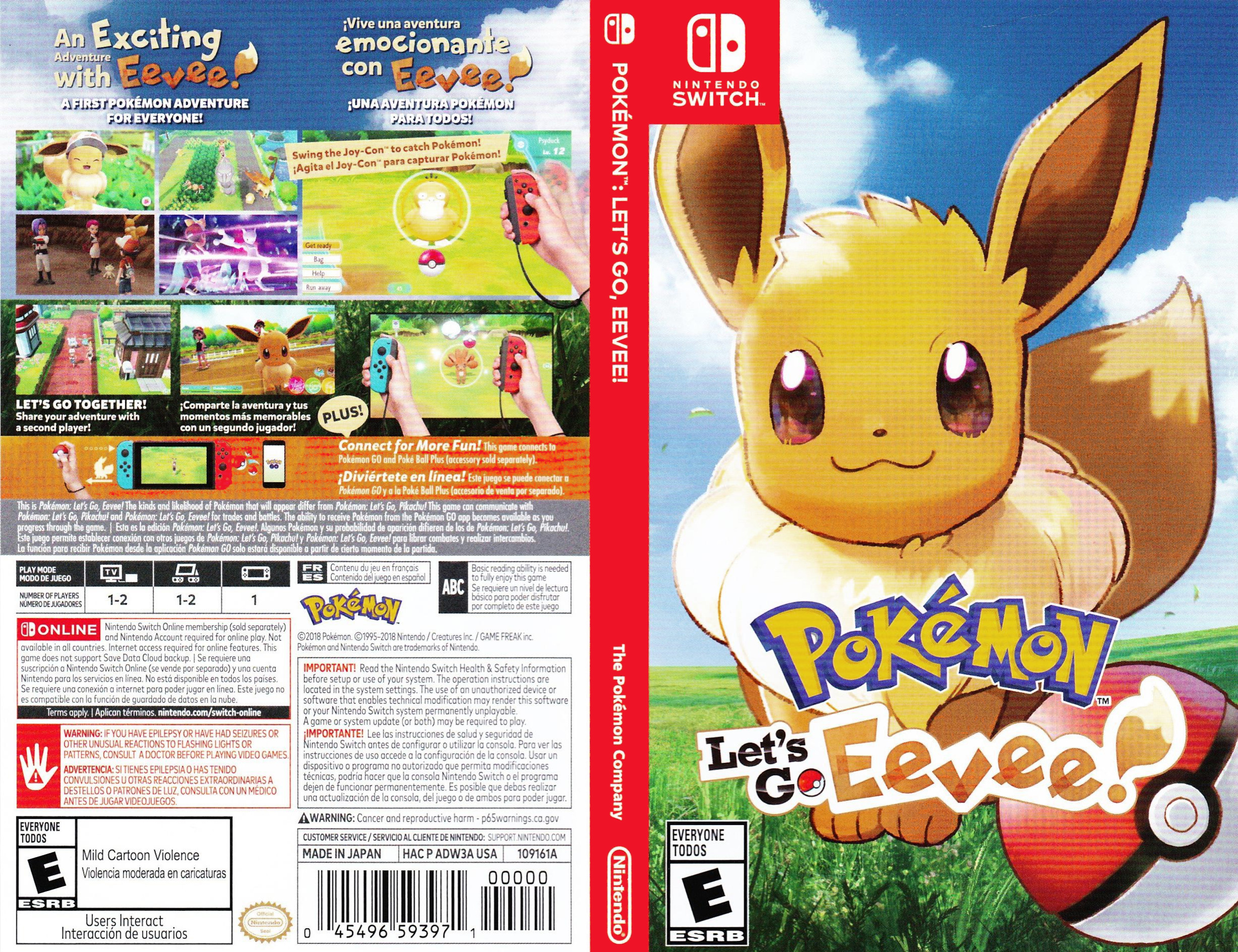 Pokémon: Let's Go, Eevee! Switch coverfullHQ (ADW3A)