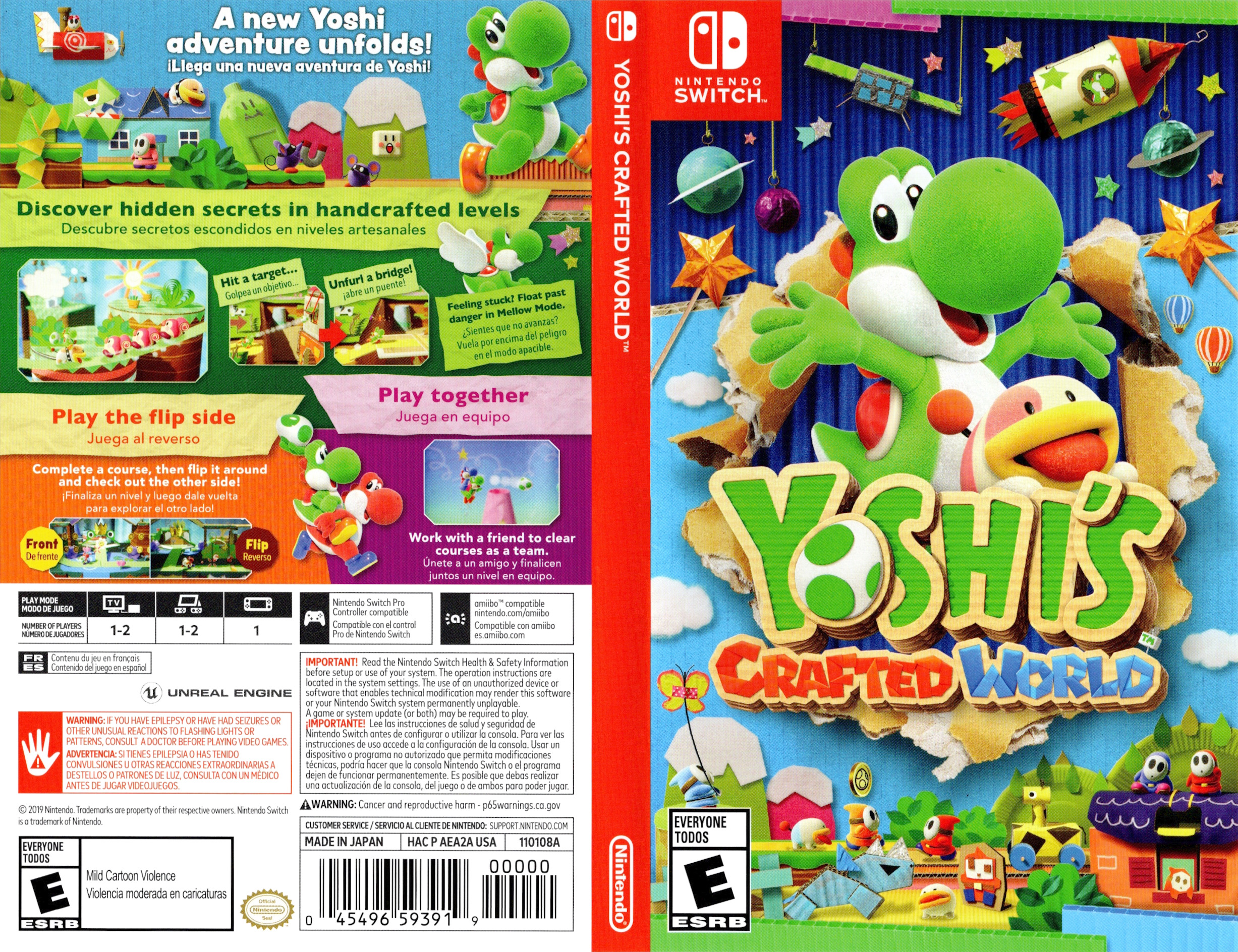 Yoshi's Crafted World Switch coverfullHQ (AEA2A)