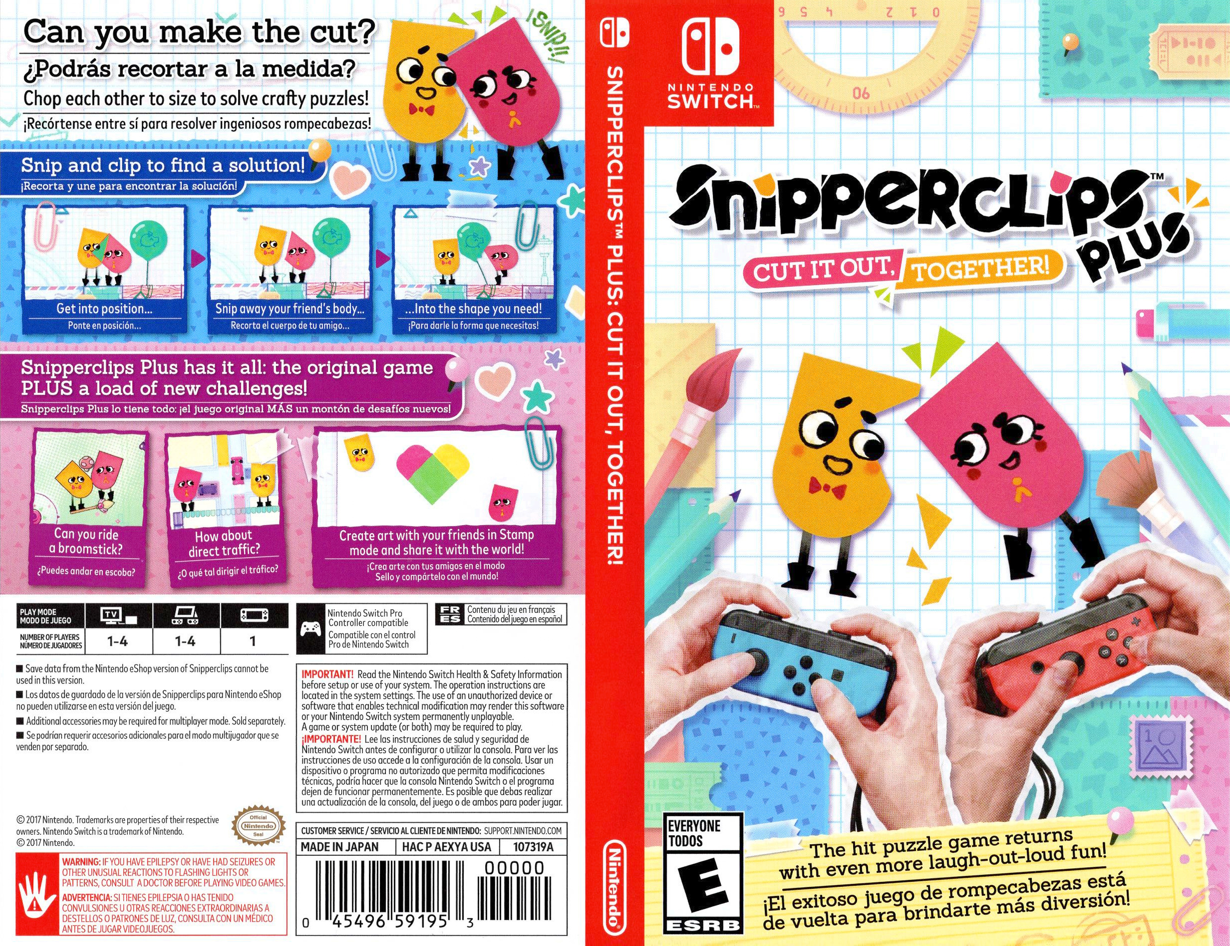 Snipperclips Plus: Cut It Out, Together! Switch coverfullHQ (AEXYA)