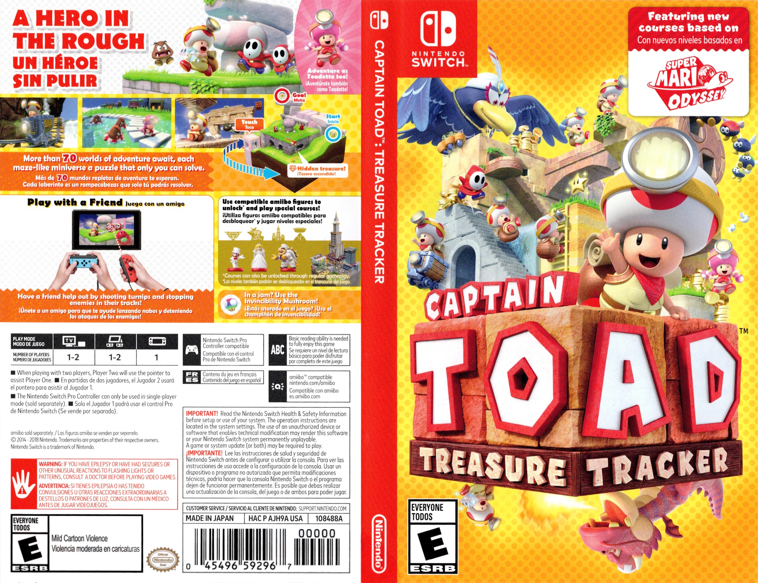 Captain Toad: Treasure Tracker Switch coverfullHQ (AJH9A)