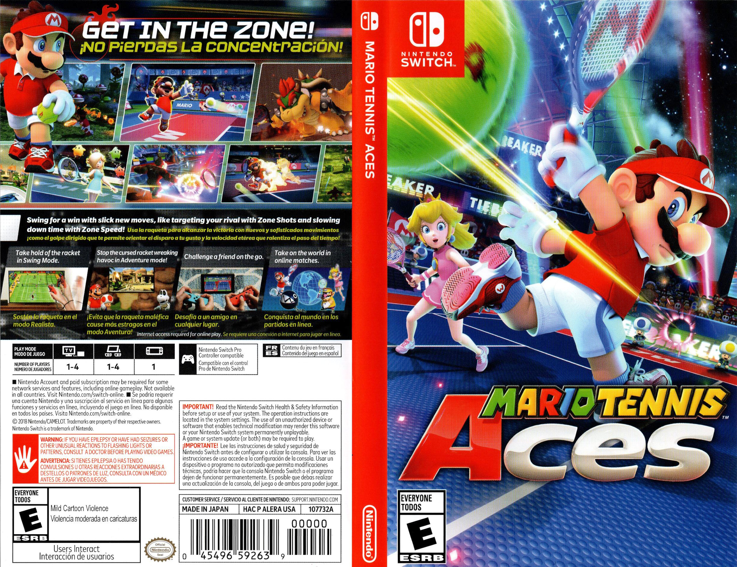 Mario Tennis Aces Switch coverfullHQ (ALERA)