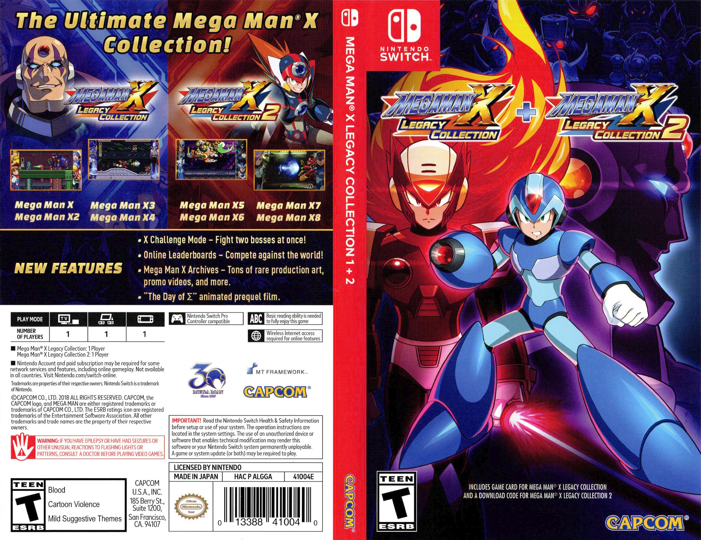 Mega Man X Legacy Collection Switch coverfullHQ (ALGGA)