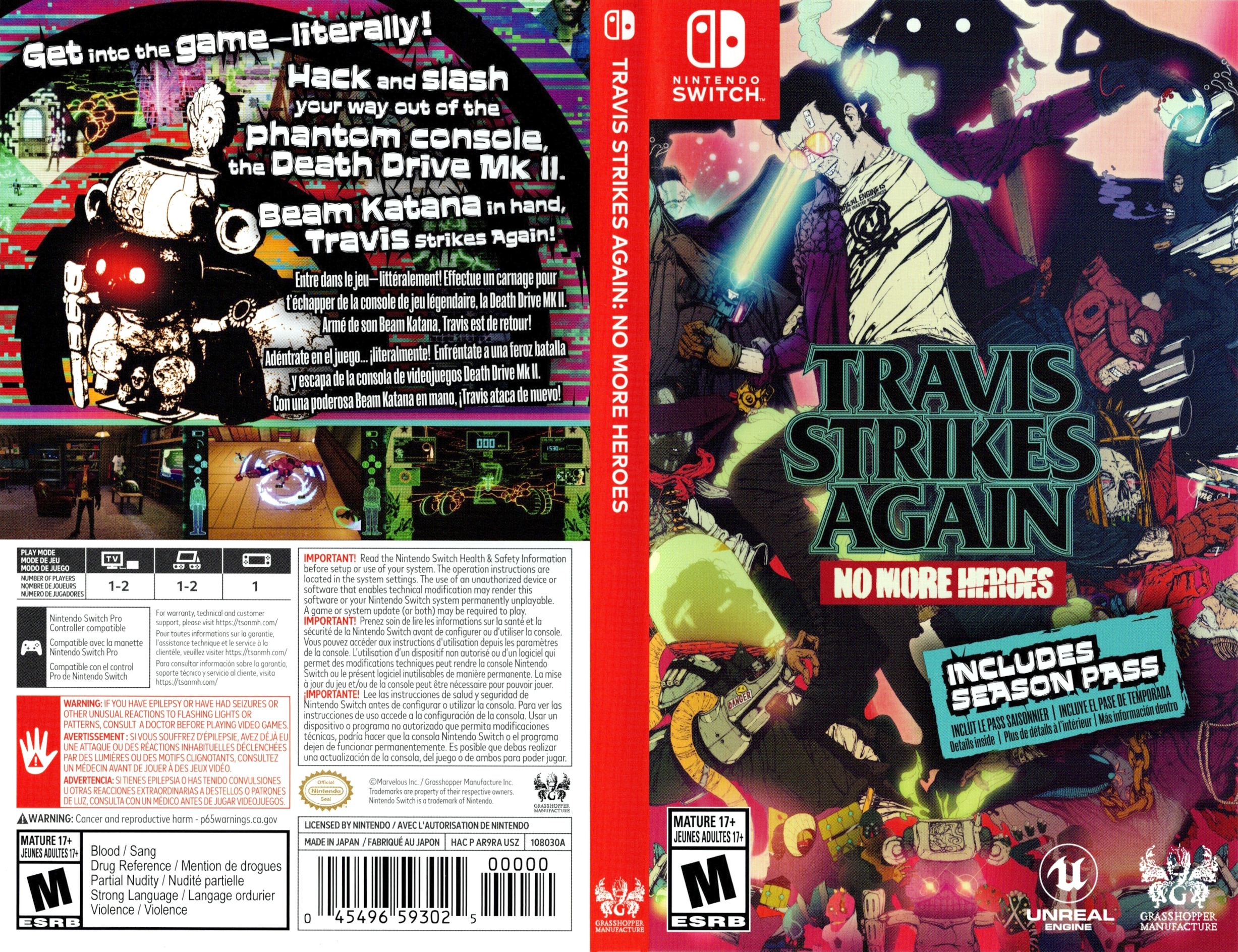 Travis Strikes Again - No More Heroes Switch coverfullHQ (AR9RA)