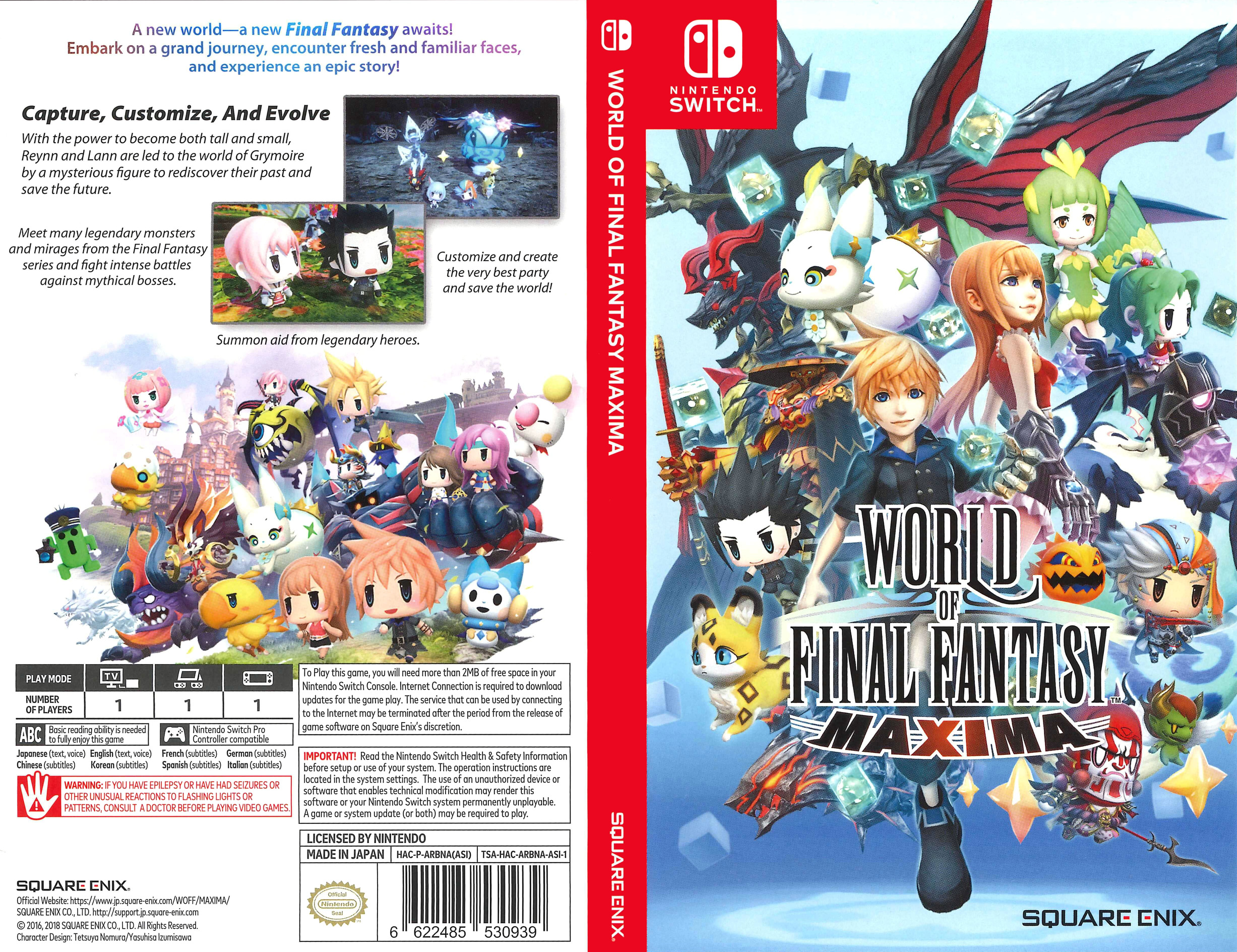 World of Final Fantasy Maxima Switch coverfullHQ (ARBNA)