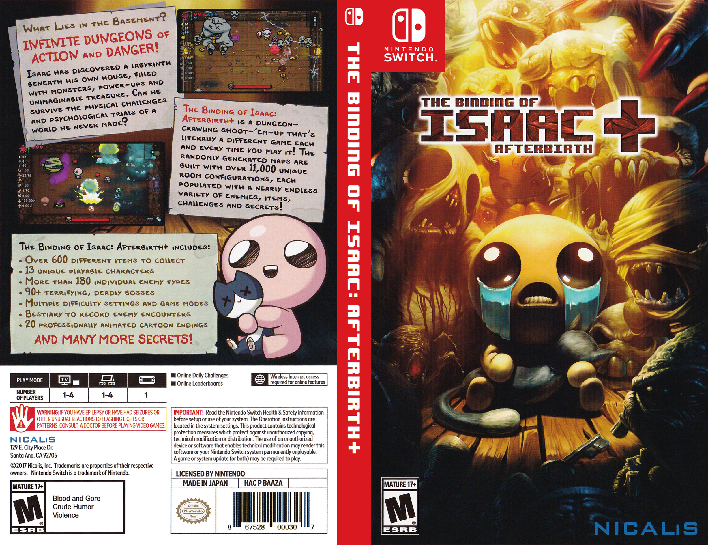 The Binding of Isaac: Afterbirth+ Switch coverfullHQ (BAAZA)