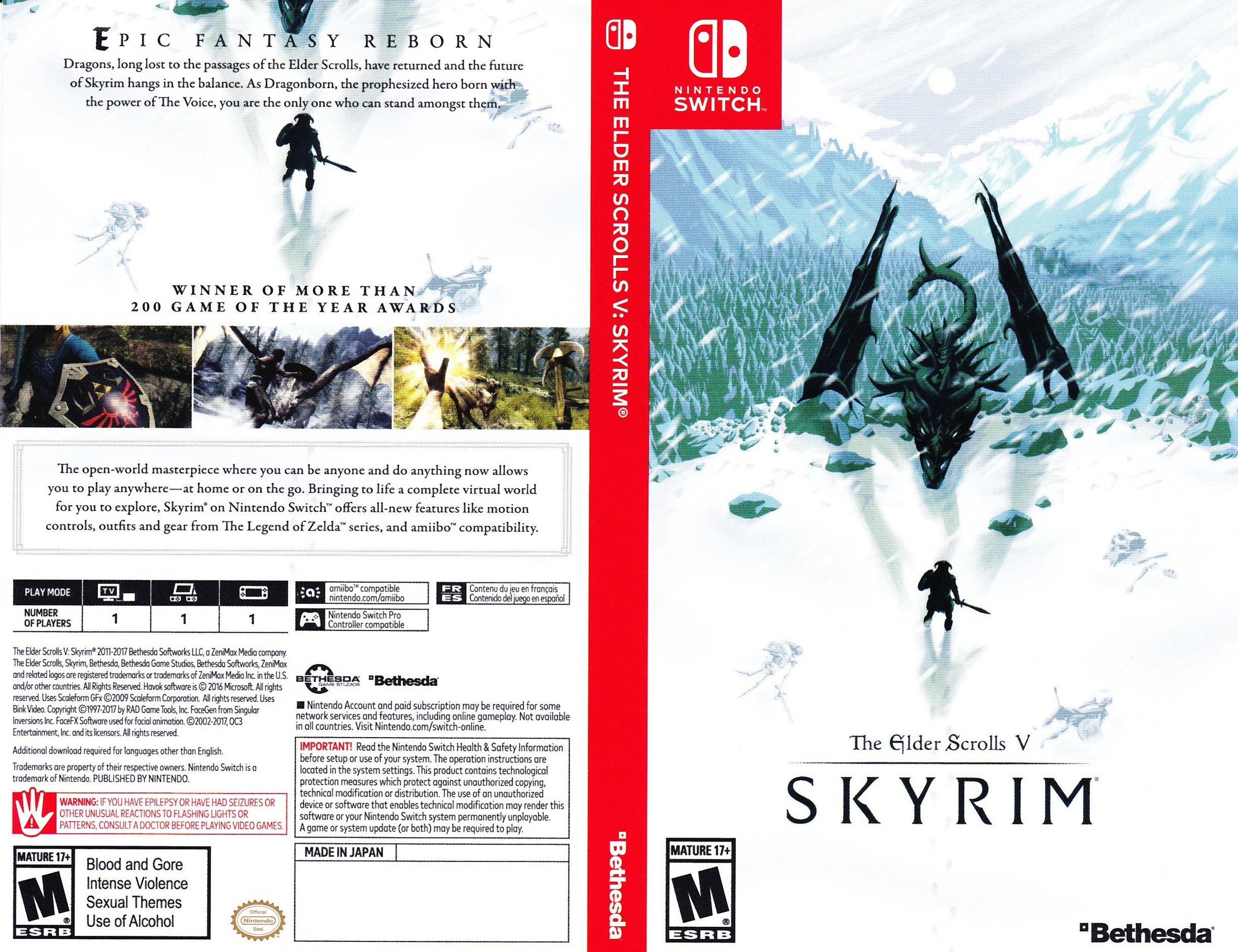 The Elder Scrolls V: Skyrim Switch coverfullHQB (AF3CA)