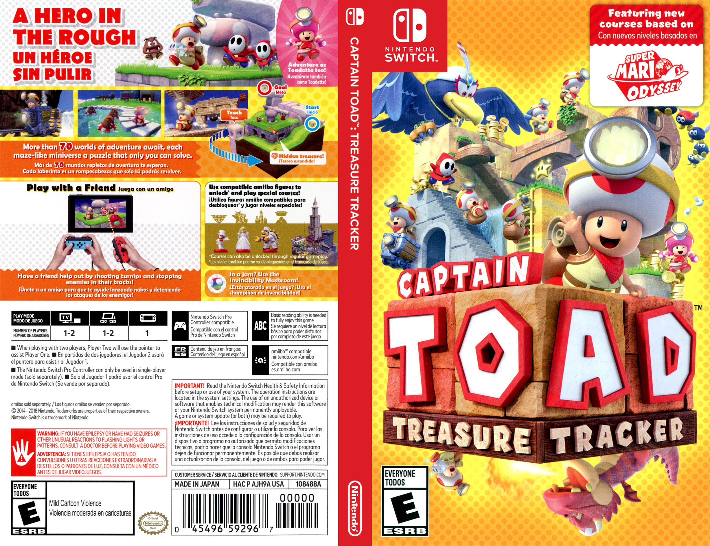 Captain Toad: Treasure Tracker Switch coverfullHQB (AJH9A)