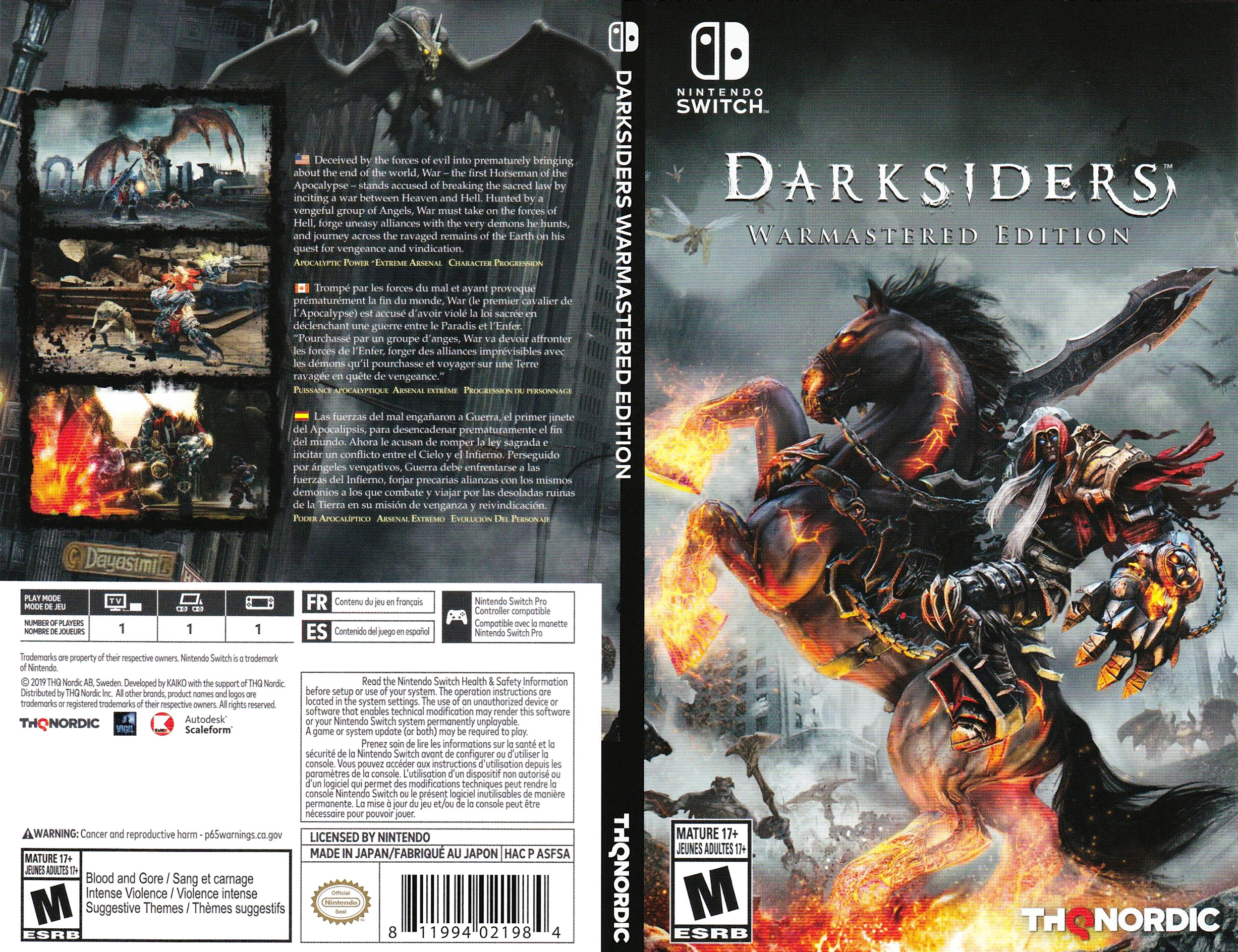 Darksiders - Warmastered Edition Switch coverfullHQB (ASFSA)
