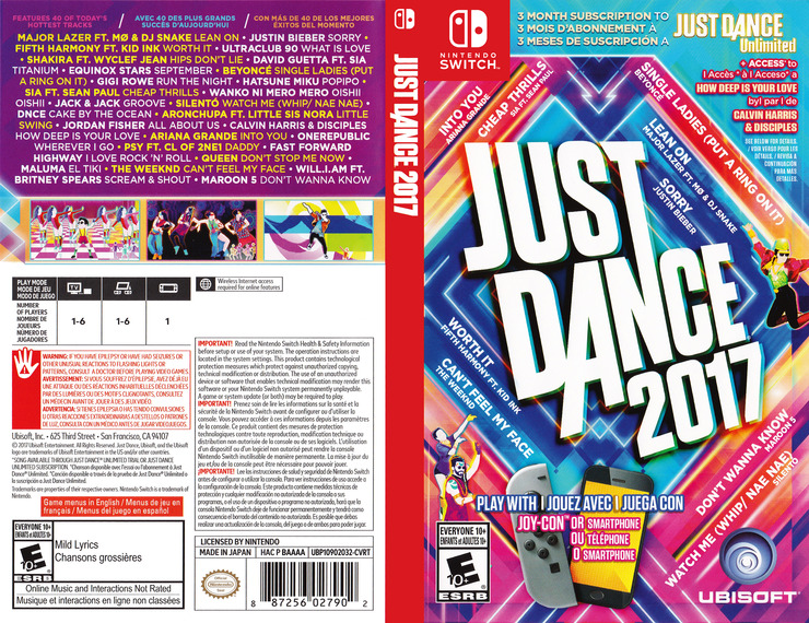 Just Dance 2017 Switch coverfullM (BAAAA)
