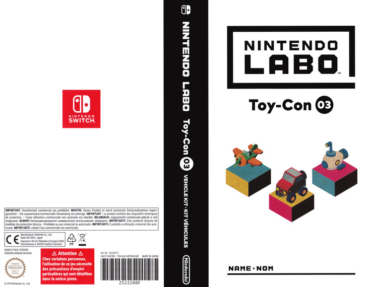 Nintendo Labo - Toy-Con 03: Vehicle Kit Switch coverfullM (ADFWA)