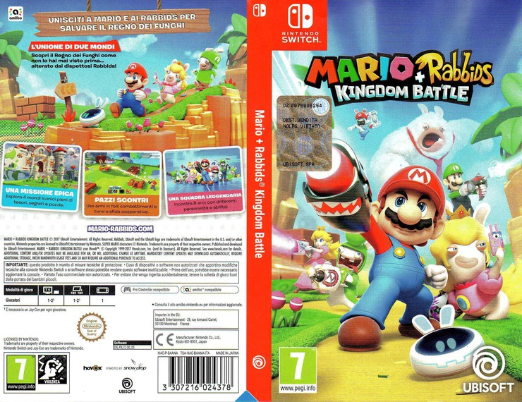 Mario + Rabbids Kingdom Battle Switch coverfullM (BAANA)