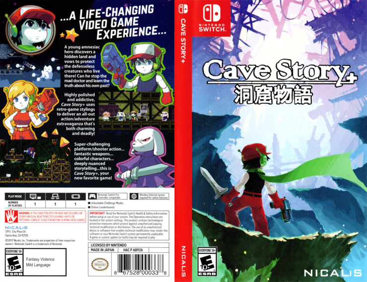Cave Story+ Switch coverfullM (AB92A)