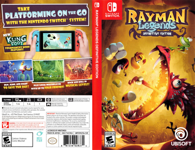 Rayman Legends: Definitive Edition Switch coverfullM (ACVKA)