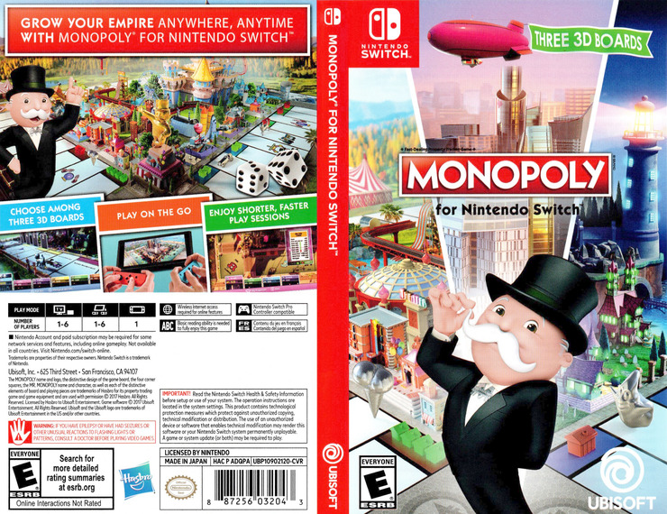 Monopoly for Nintendo Switch Switch coverfullM (ADQPA)