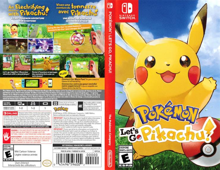 Pokémon:Let's Go, Pikachu Switch coverfullM (ADW2A)