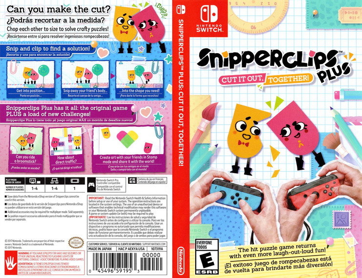 Snipperclips Plus: Cut It Out, Together! Switch coverfullM (AEXYA)