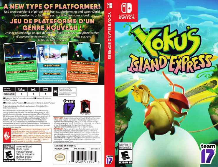 Yoku's Island Express Switch coverfullM (AGV8A)