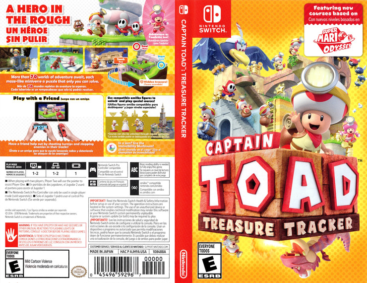 Captain Toad: Treasure Tracker Switch coverfullM (AJH9A)