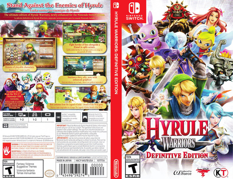 Hyrule Warriors: Definitive Edition Switch coverfullM (AKUTB)