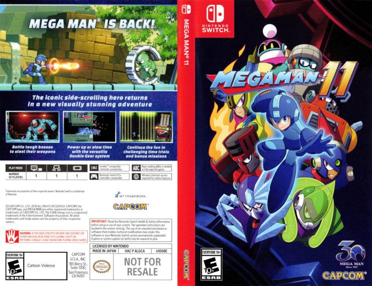 Mega Man 11 Switch coverfullM (ALGCA)