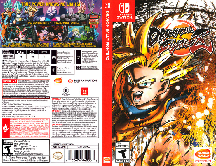 Dragon Ball FighterZ Switch coverfullM (AM5WA)
