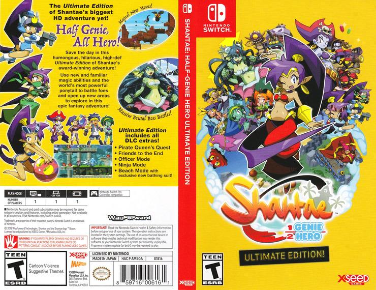 Shantae: Half-Genie Hero Ultimate Edition Switch coverfullM (AMSGA)