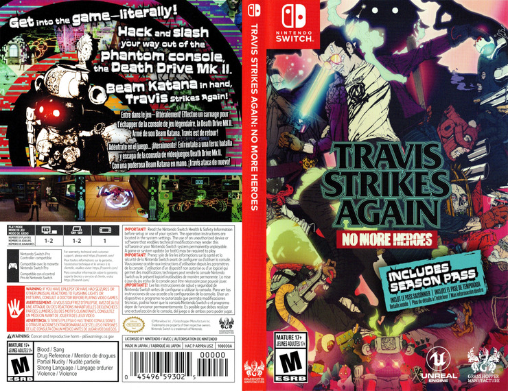 Travis Strikes Again - No More Heroes Switch coverfullM (AR9RA)