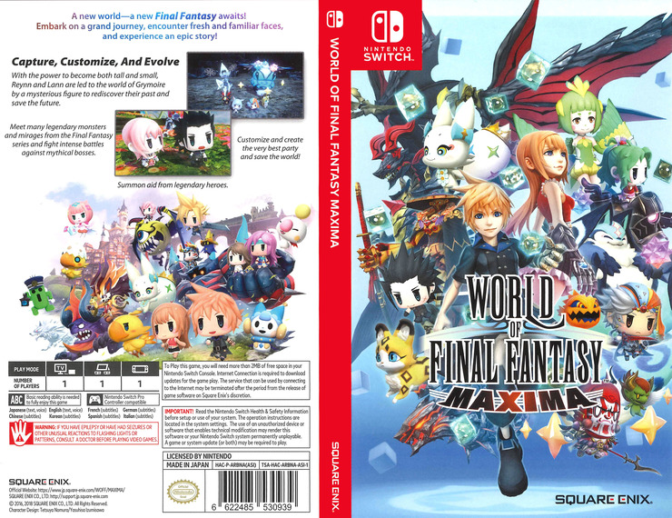 World of Final Fantasy Maxima Switch coverfullM (ARBNA)