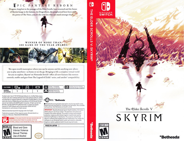 The Elder Scrolls V: Skyrim Switch coverfullM (AF3CA)