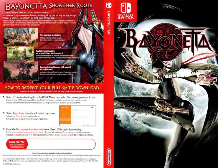 Bayonetta 2 Switch coverfullM2 (AE98A)